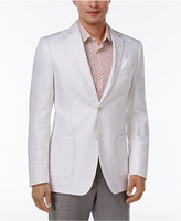 Tallia Men's Big & Tall Slim-Fit White Tonal Geo Sport Coat