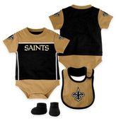 NFL New Orleans Saints Lil Jersey Size 24M 3-Piece Creeper, Bib, and Bootie Set