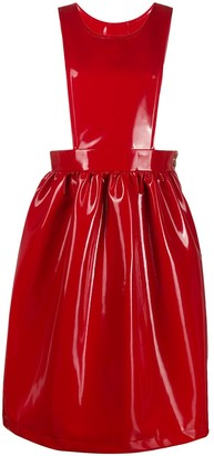 Comme des Garcons Faux Patent Leather Pinafore Dress