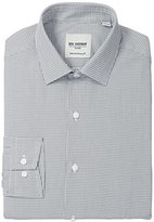 Ben Sherman Men's Grey Mini Gingham - Skinny Fit - Spread