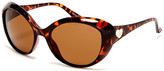 Betsey Johnson Women's Cat Eye Plastic Sunglasses