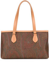 Etro printed shopper tote - women - Cotton/Calf Leather/Polyester/PVC - One Size