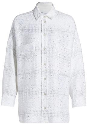 IRO Metallic Thread Oversized Shirt