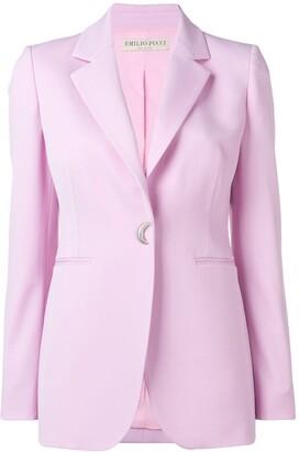 Emilio Pucci Moon-Shaped Button Blazer