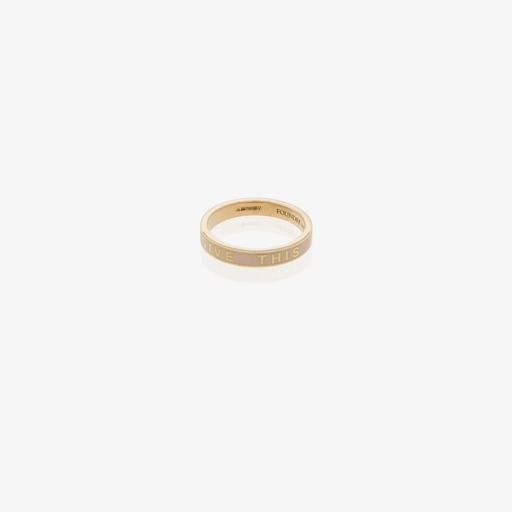 Foundrae 18K yellow gold Promise enamel ring
