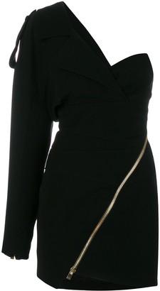 Alexandre Vauthier Fitted One-Shoulder Dress