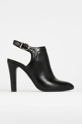 Wallis Black Slingback Shoe Boot