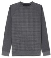 Vince Camuto Check-Print Raglan Sweatshirt
