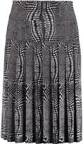 Norma Kamali Pleated printed stretch-jersey skirt