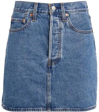 Levi's Ribcage Denim Mini Skirt