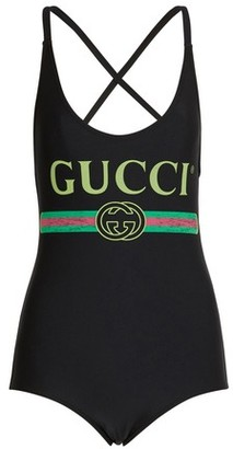 Gucci Logo swim suit
