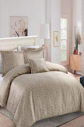 California Design Den Full/Queen Enchanted Gardens Comforter Set - Taupe