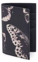 Alexander McQueen Butterfly-Printed Calfskin Leather Pocket Organizer