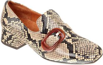 Chie Mihara Zazi Snake-Print Buckle Loafers