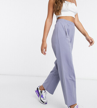 ASOS DESIGN Petite mix & match co-ord straight leg jogger in organic cotton in steel