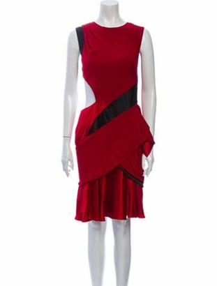 Prabal Gurung Crew Neck Knee-Length Dress Red