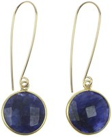 Nashelle Lorena 'Luxe' Earrings With Dyed Sapphire