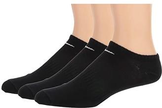 Nike Everyday Lightweight No Show 3-Pair (Black/White) No Show Socks Shoes