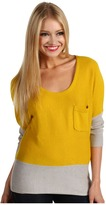 Volcom Peace of Mind Scoop Neck Sweater (Ocher Yellow) - Apparel
