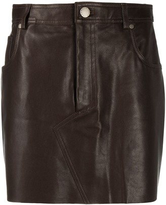 FEDERICA TOSI Mini Leather Skirt
