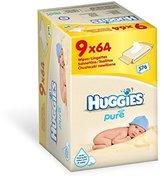 Huggies Pure Baby Wipes 9 pack (9x64)