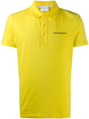 Calvin Klein Jeans Embroidered Logo Shortsleeved Polo Shirt