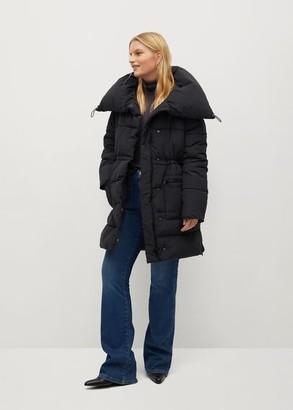 MANGO Collar quilted coat