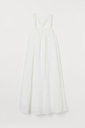 H&M A-line Cotton Dress - White