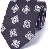 Charles Tyrwhitt Navy linen English luxury medallion tie