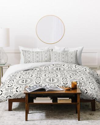 Deny Designs Holli Zollinger Mandala Tile Light Duvet Cover Set