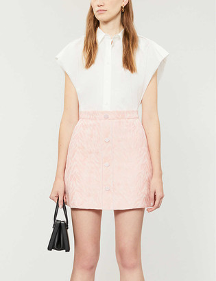 Sandro Zeby high-waisted cotton-blend skirt