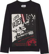 Eleven Paris Darth poster print long-sleeved top 4-16 years