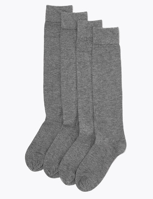 Marks and Spencer 4 Pack Supersoft Knee High Socks