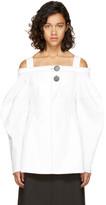 Ellery White Sugar Off-the-Shoulder Blouse