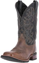 Laredo Western Boots Mens Topeka Cowboy Square 12 D Brown Black 7820
