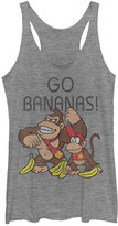 Fifth Sun Women's Tee Shirts GRAY - Heather Gray Donkey Kong 'Go Bananas' Tee - Women & Juniors