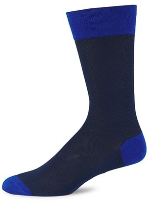 Marcoliani Milano Contrast Pique Cotton Socks