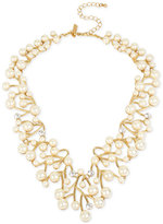 INC International Concepts M. Haskell for Gold-Tone Imitation Pearl and Crystal Vine Statement Necklace, Created for Macy's