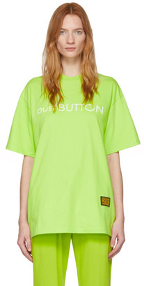 pushBUTTON Green Logo T-Shirt