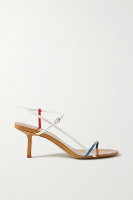 The Row Bare Color-block Leather Sandals - Tan