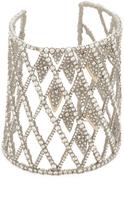 Alexis Bittar Crystal Spiked Lattice Cuff Bracelet