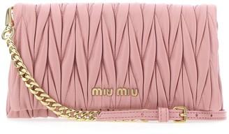 Miu Miu Matelasse Chain Strap Clutch Bag