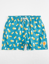 AMBSN Pineapple Express Mens Swim Trunks