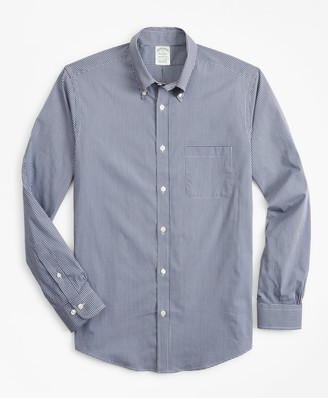 Brooks Brothers Milano Slim-Fit Sport Shirt, Performance Series with COOLMAX, Gingham