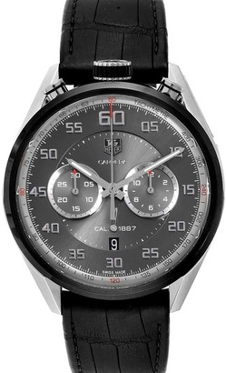 Tag Heuer Gray Titanium Carbide And Stainless Steel Carrera Chronograph CAR2C12 Card Men's Wristwatch 45 MM