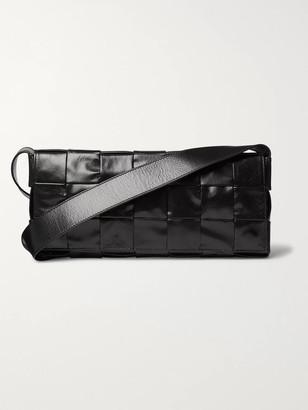 Bottega Veneta Intrecciato Creased-Leather Messenger Bag