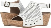 Walking Cradles Womens Taminee White Accordion Perforated Leather 7 W (D)