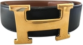 Hermes Black and Tan Iconic H belt from 70cm