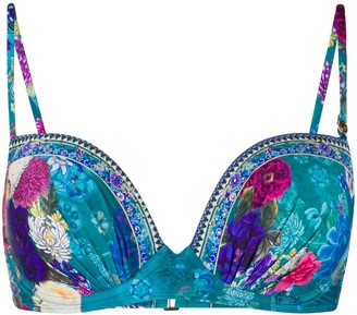 Camilla Floral-Print Underwired Bikini Top