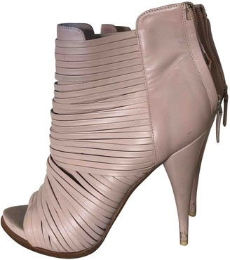 Givenchy Pink Leather Ankle boots